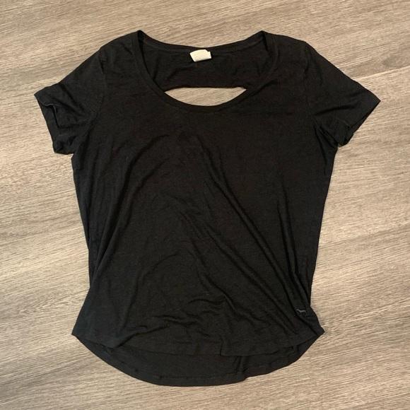 PINK Victoria's Secret Tops - [PINK] Open Back Black T Shirt